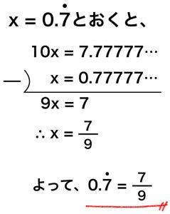 循環小数の表し方・分数に変換す...